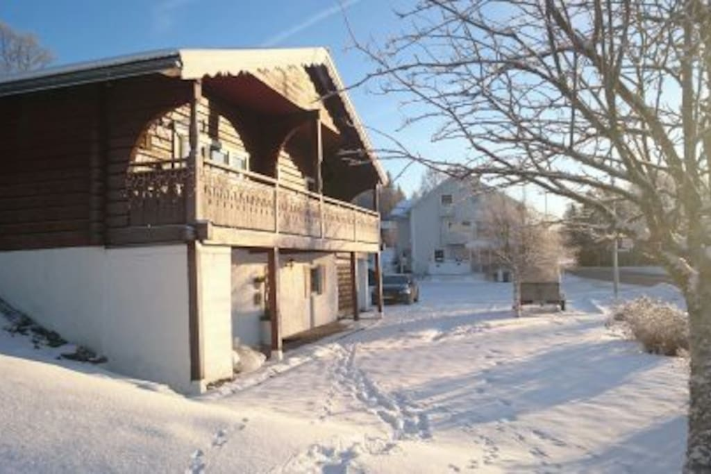 Winterpicture from the outside
