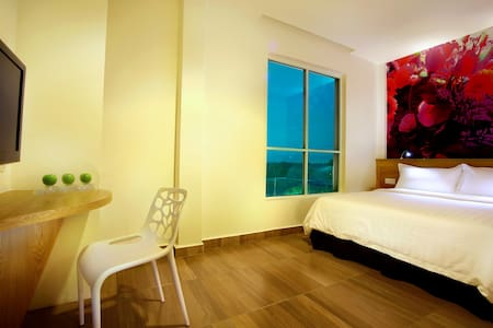 Standard Room  Each eco-friendly room has 17 Standard double bed and 16 Standard twin bed