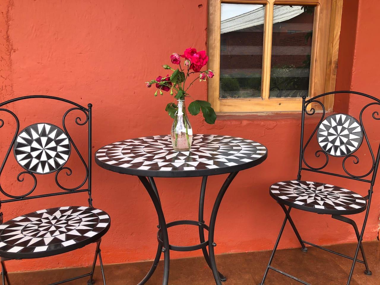 mesas exteriores