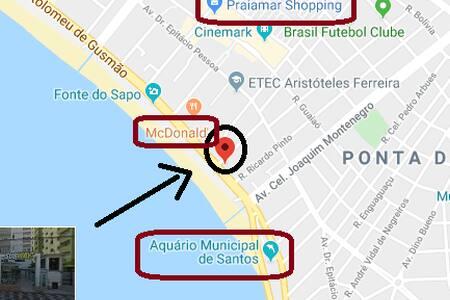 OPORTUNIDADE! Apto. em frente à Praia de Santos!