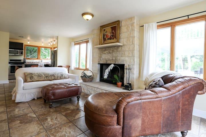 Mockingbird House Suite 1 | Fireplace | Peaceful