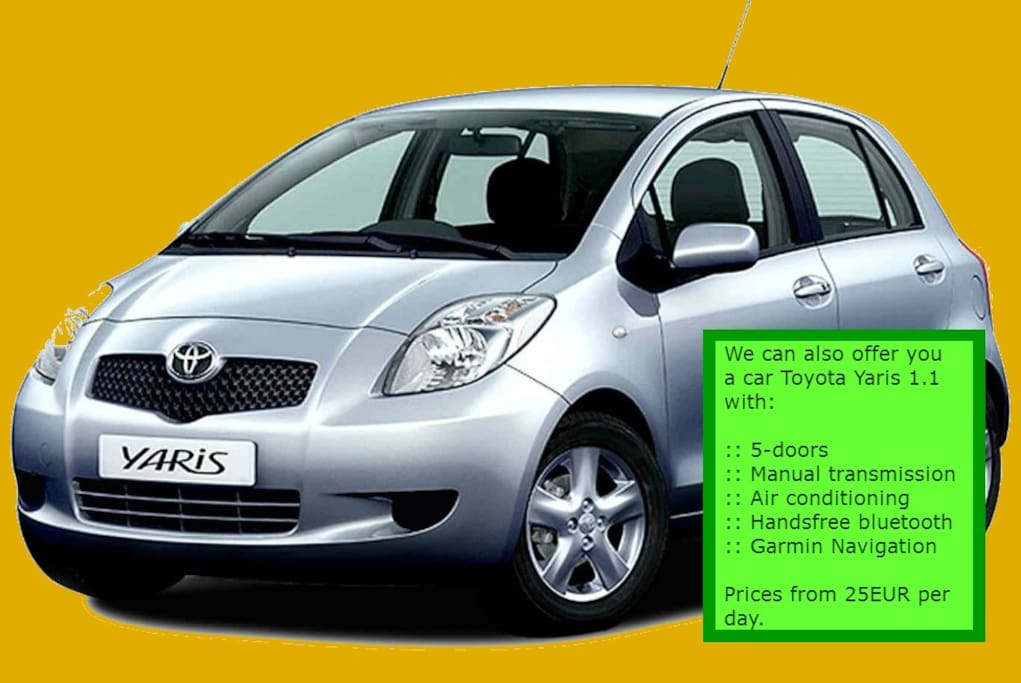 We also offer cheapest car rental in town.