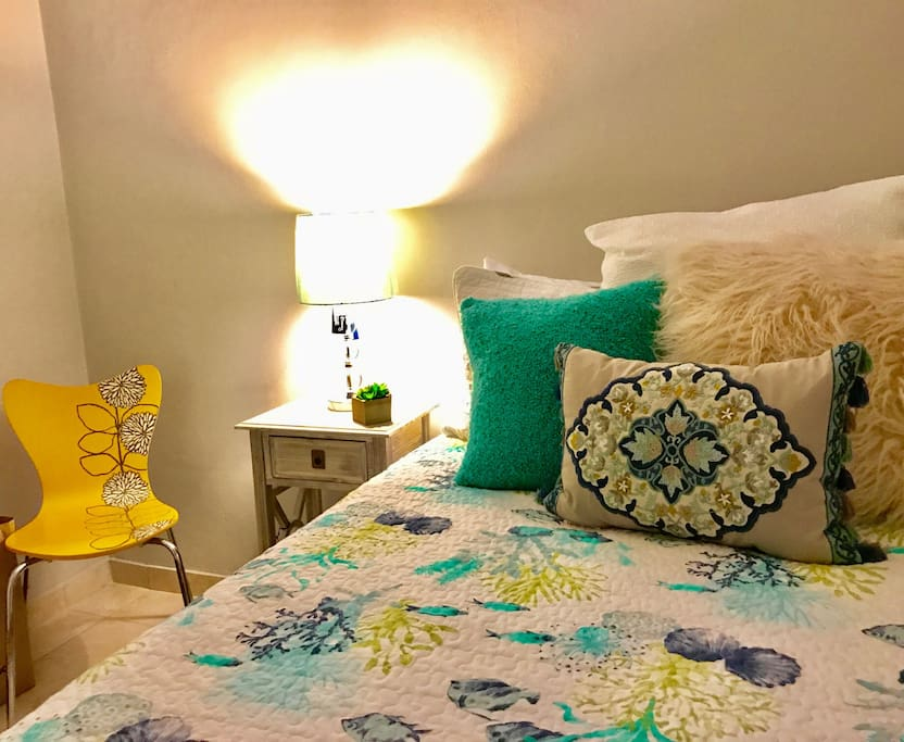 Nice and clean bedroom with A/C!