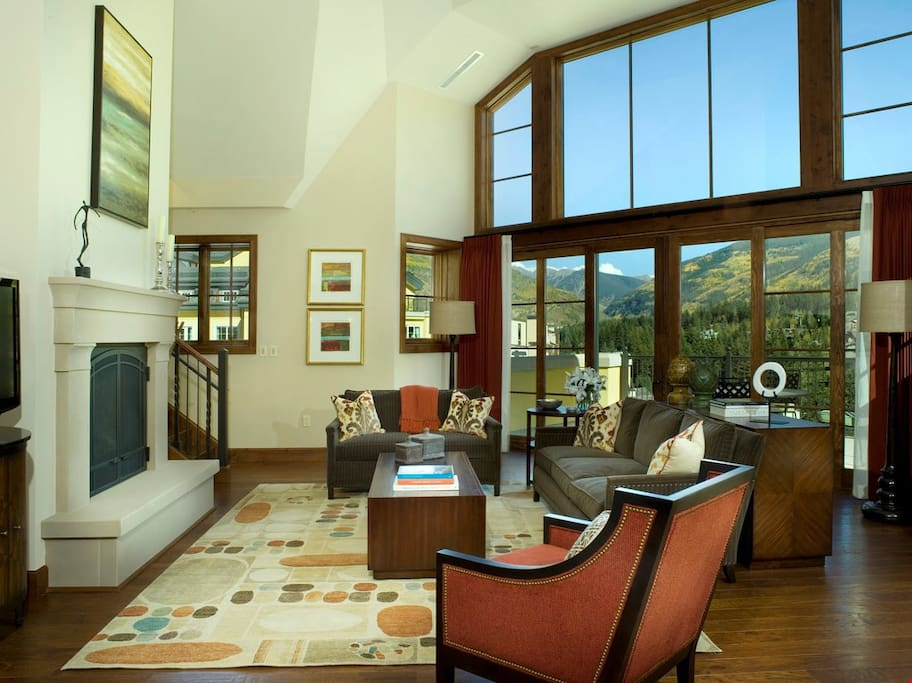 Relax and unwind in the bright and spacious living room.