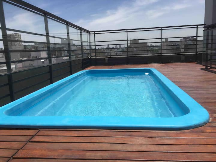 Very sunny, quiet and modern 35m2.Pool and comfort