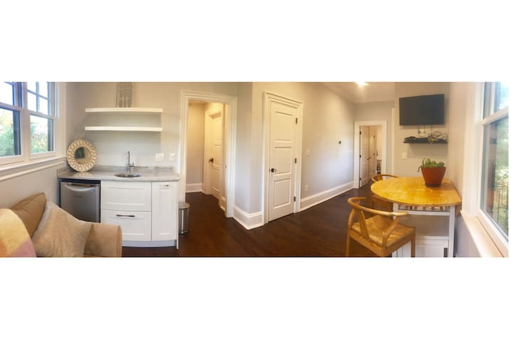 Apartment in historic home, downtown Newton Centre