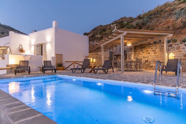 Kelaino ,Stunning Aegean View,Private Pool & BBQ!!