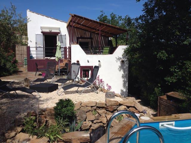 Maison indiv.piscine privée. - Robiac-Rochessadoule - Huis