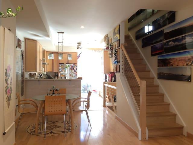 Sunny Garden Room in a Fusion Modern home