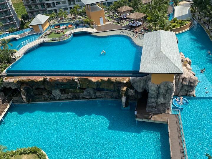 芭提雅网红公寓最大水系laguna3 maldives  马尔代夫 超美泳池景观游泳池健身房没有开通