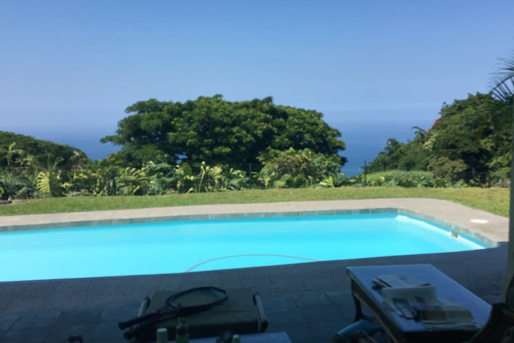 Our pool with ocean view