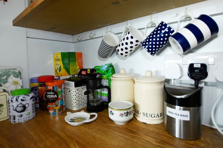 Tea and coffee making facilities within your room.