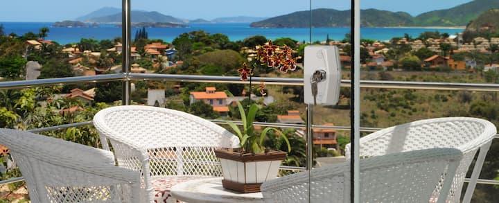 Apartamento em Búzios vista mar Loft com Mezanino
