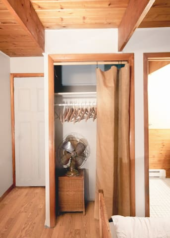 Master Bedroom Closet and Private Full Bathroom
