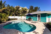 Great pool area at Paradise Cottage.