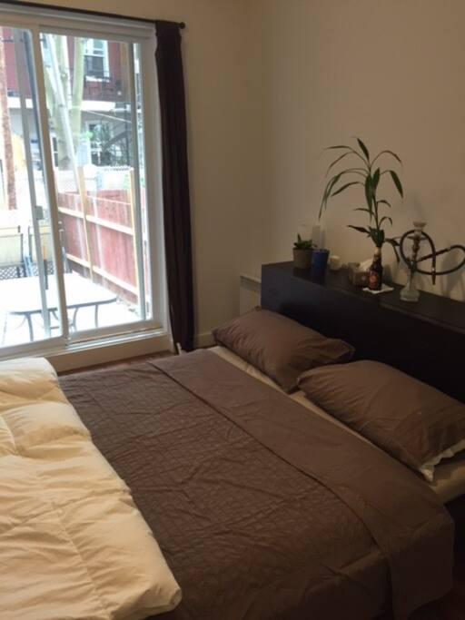 chambre avec accès terrasse