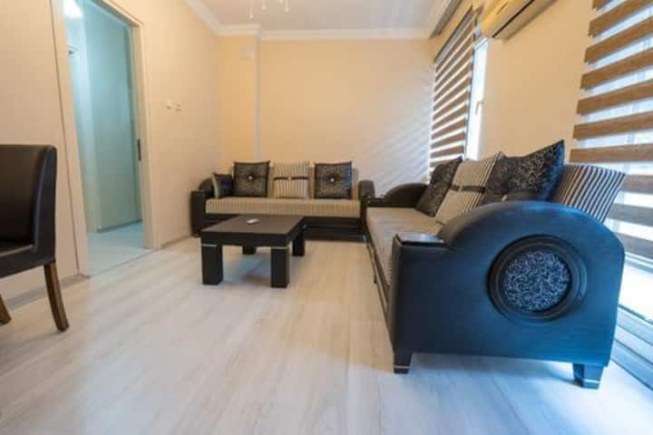 Central 2 BR Apartment within 1 Min Walking Distance to the Beach in Marmaris