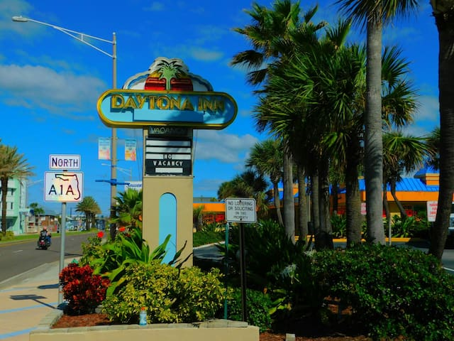 We are right on A1A  Our Apartments are privately owned & managed by us, not the Front Desk.