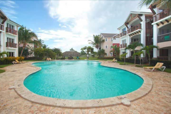 Punta Cana  Apartamento , vistas, piscina y playa