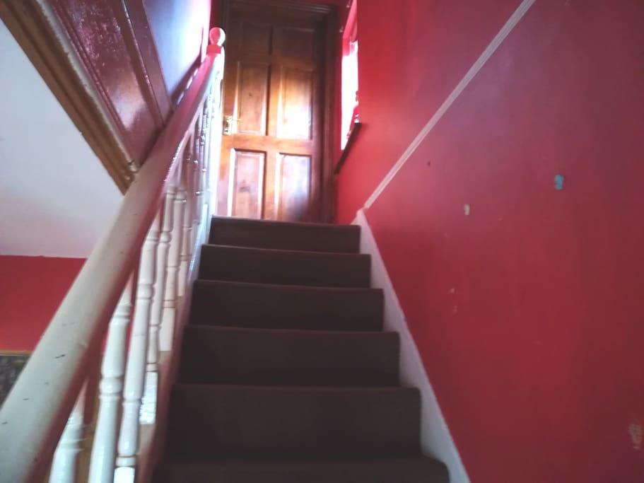 Steep narrow staircase
