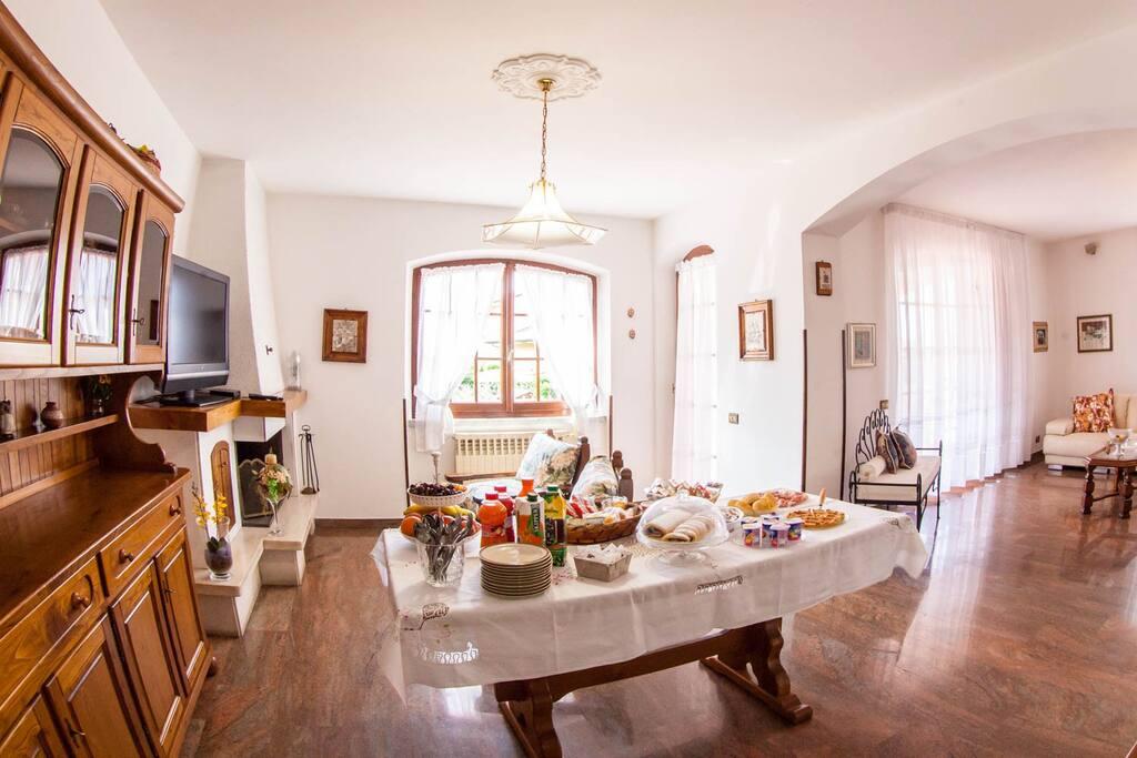 soggiorno dove potete gustare la nostra abbondante colazione