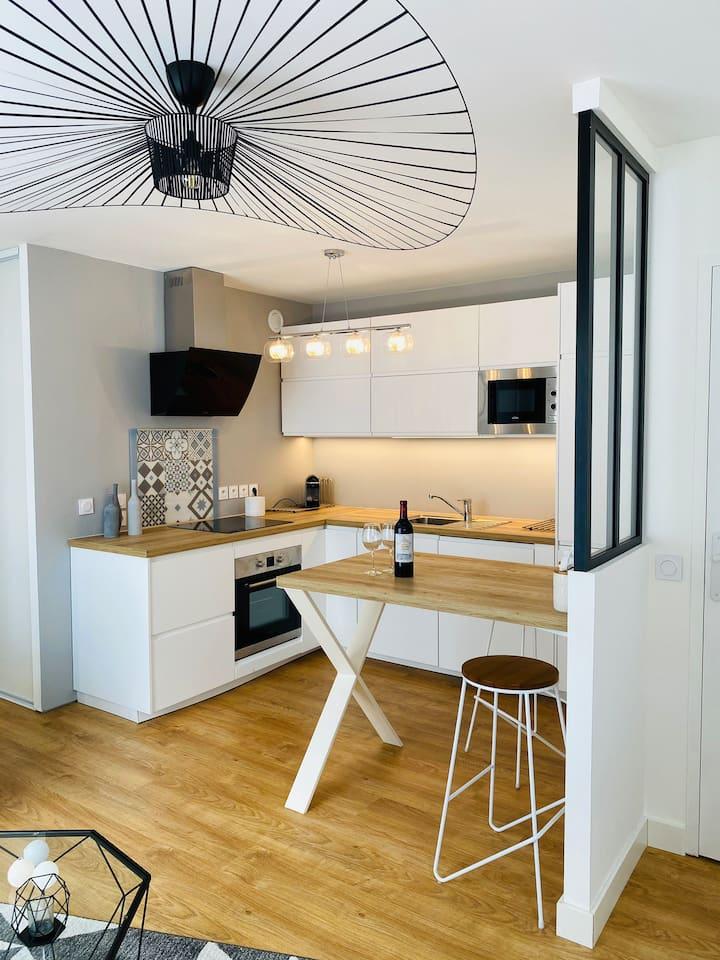 Appartement cosy proche Bordeaux (avec parking )