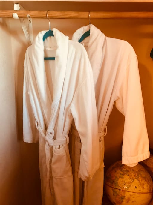 Fluffy His and Hers Bathrobes
