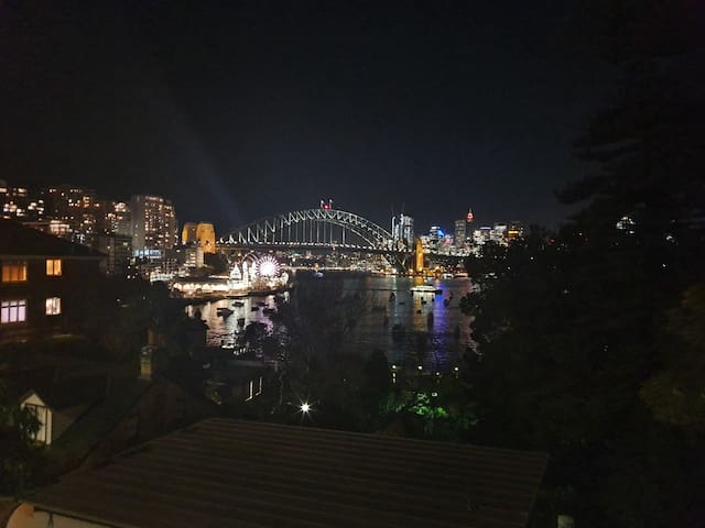 Pretty special view from less than 100m down the street... from this point walk down through Wendy Whitley's garden, along the water & you'll reach Luna Park in just 10 minutes stroll!