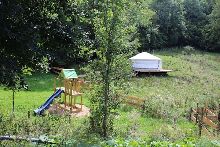 Vacances été Yourte traditionnelle - Saint-Sauves-d'Auvergne - Jurta