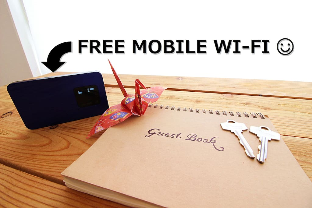 Free Mobile Pocket Wi-Fi for all my guests!