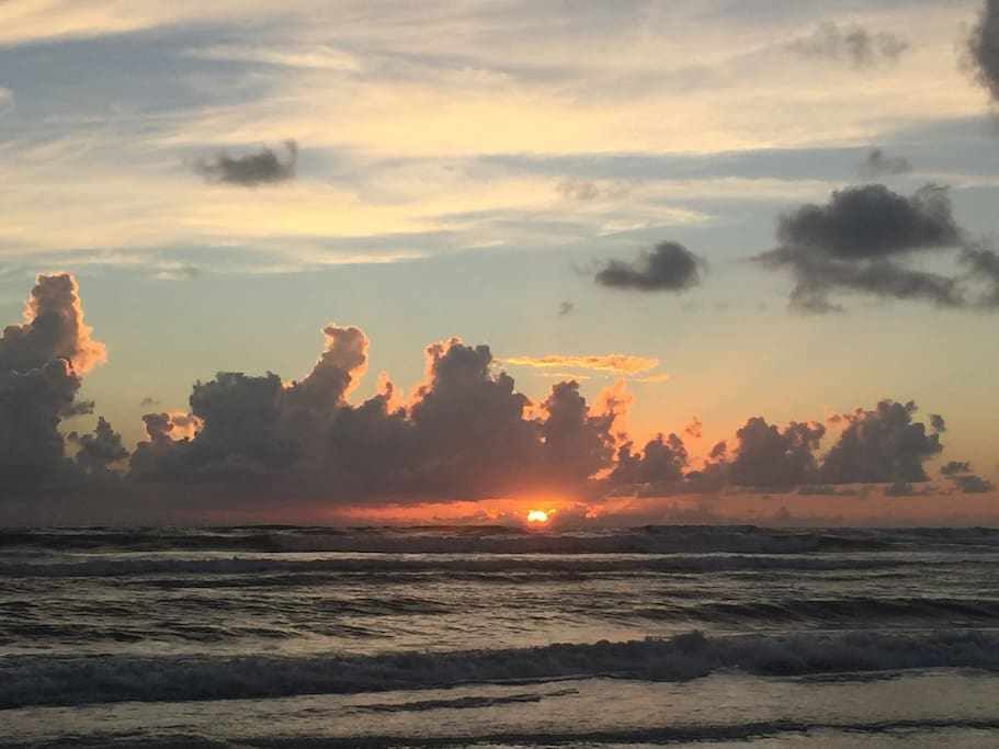 Beautiful morning on New Smyrna Beach. We love to get up early to enjoy these special moments.