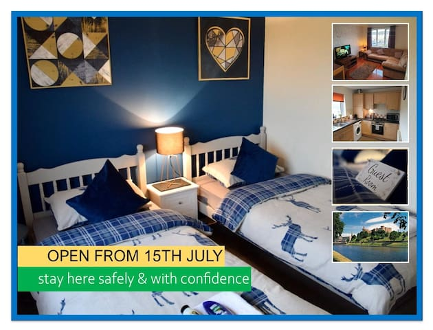 OPEN: Beautiful Apartment, Twin - Inverness 5min