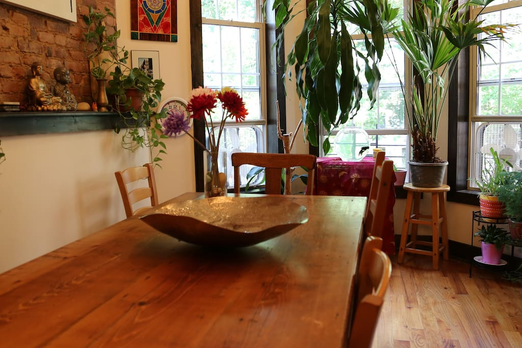 Farm table in our dinning room
