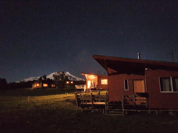 Hermosa y tranquila cabaña con vista al Calbuco