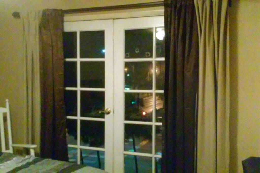 In suite French doors to Juilet Balcony