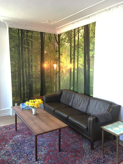 """The """"green"""" corner in the living room"""