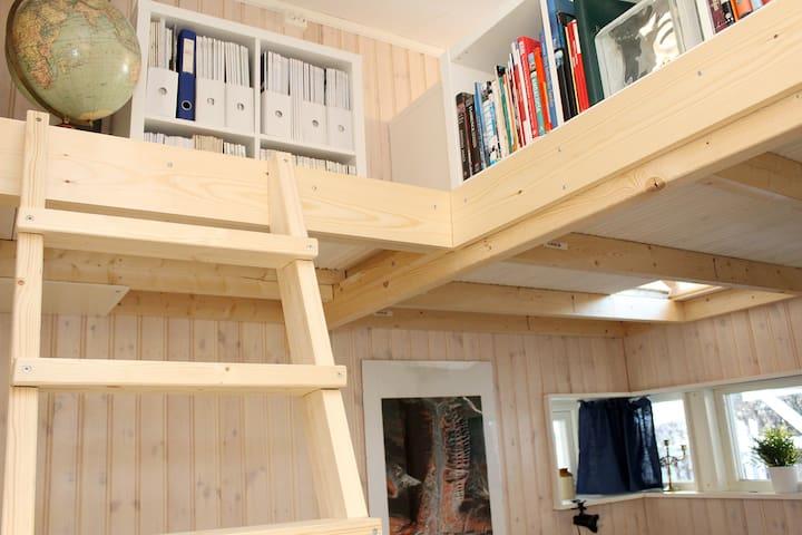 Ladder to loft / mezzanine