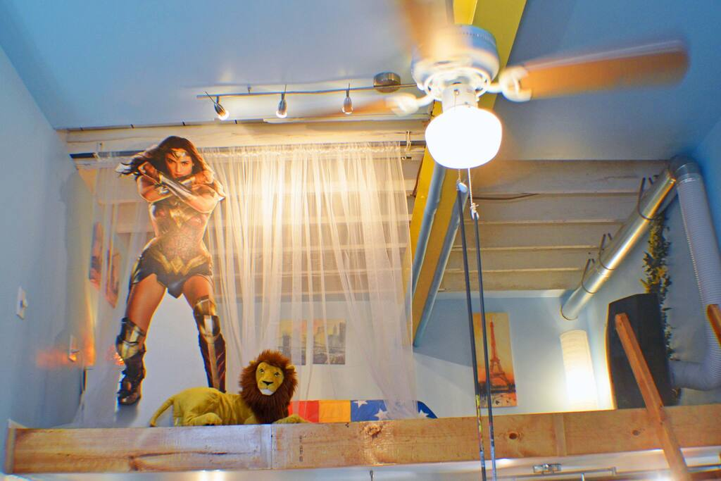 Wonder Woman is always protecting her space from EVIL