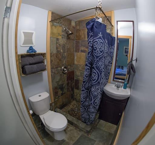 Private unique tile bathroom