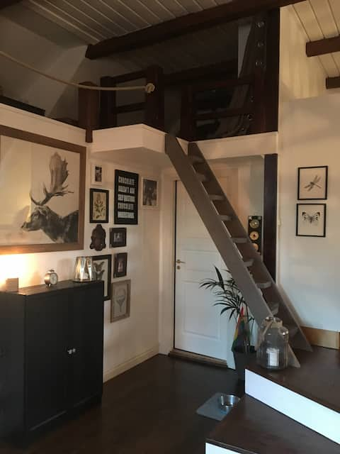 Stunning attic apartment-Beams-a-listed.