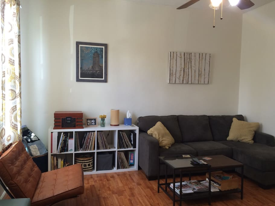 Livingroom, decent sized couch for extra guest