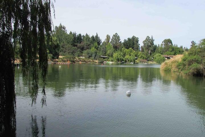 Lago Rapel 2 casas en 5.000mts