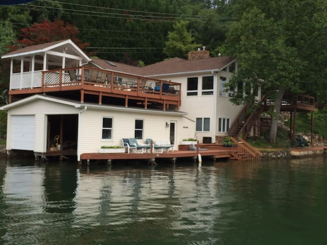 House on Lake Lure, 14 miles from site of W E G