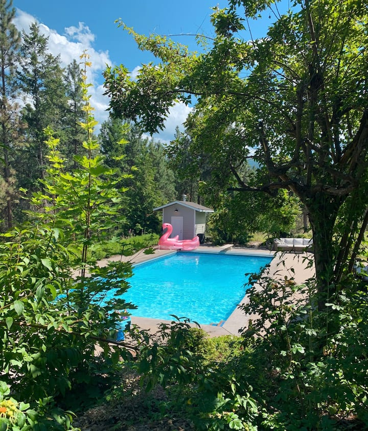 Charming 4 acre estate with salt water pool