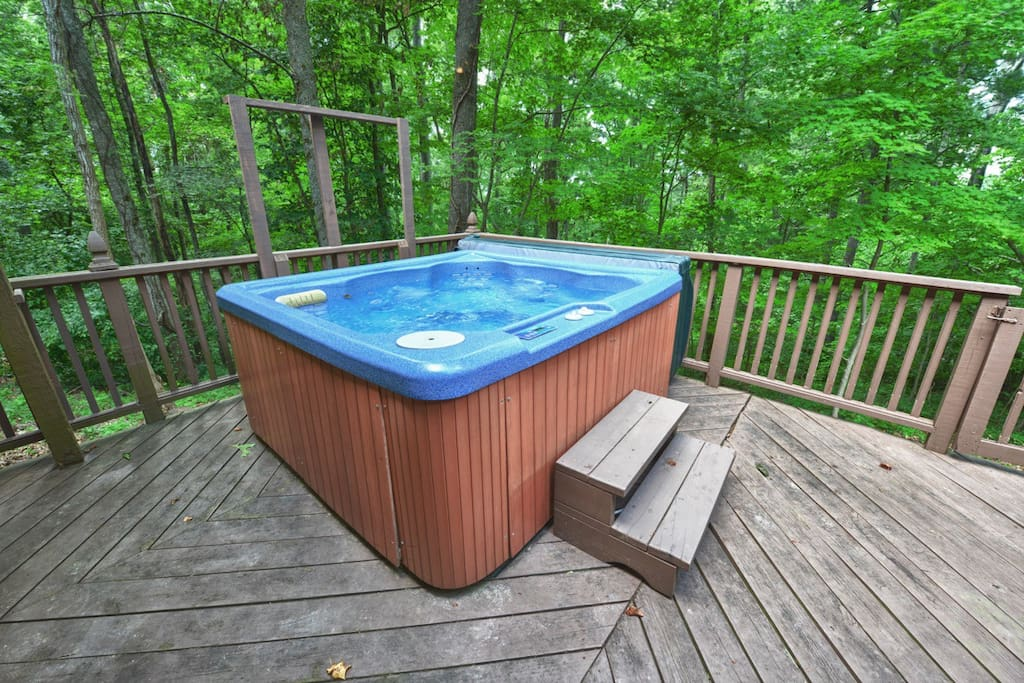 Hot tub on the lower deck.