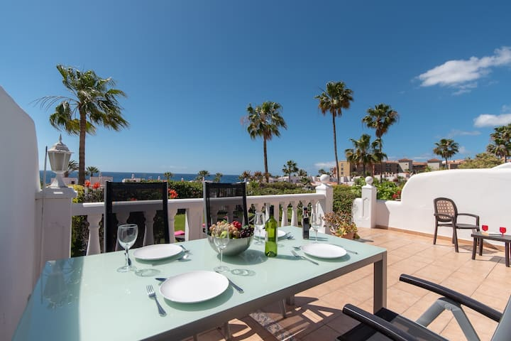 Tranquil 2 bedroom villa with communal heated pool