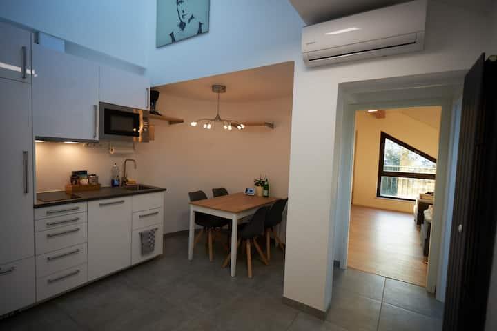 Modernes Apartment nahe Frankfurt mit 2,5 Schlafzimmern, Klimaanlage, kostenlose Leihfahrräder, Parkplätze