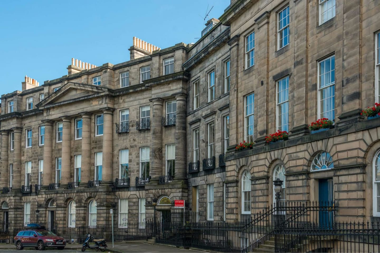 Moray Place, the Crown Jewel of Edinburgh's historic world heritage Georgian 'New Town'.