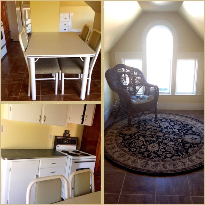 spacious kitchen and living sleeping areas