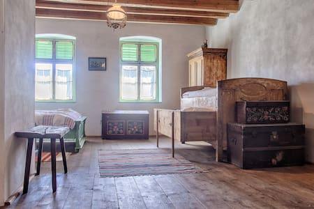 An authentic Transylvanian room in Viscri